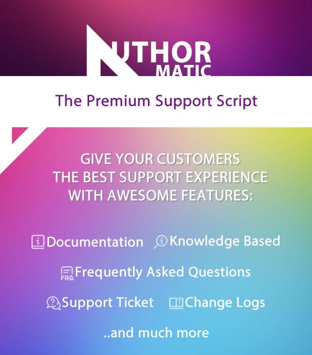 AuthorMATIC - The Premium Support Script - 1